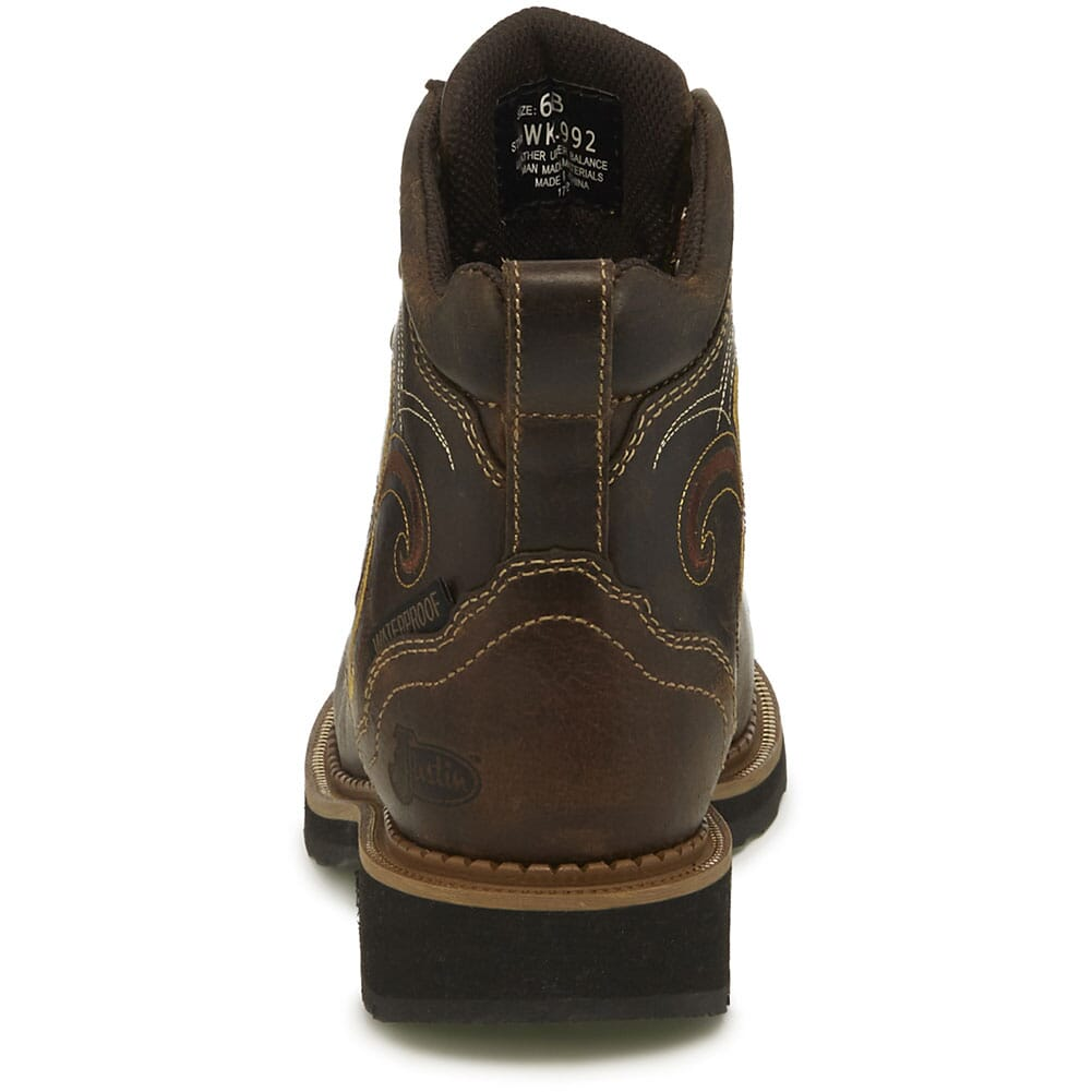 Justin Original Women's Deanne WP Safety Boots - Maple Tan