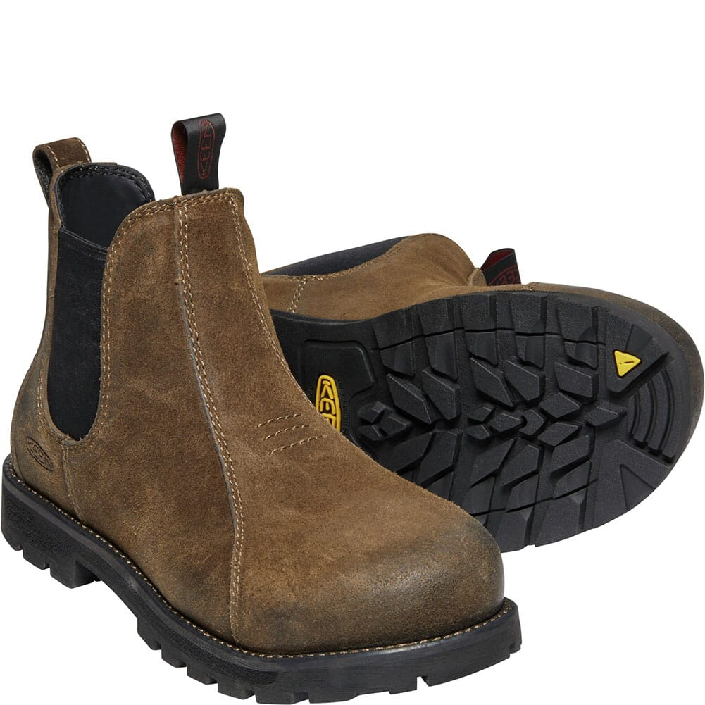 1022087 KEEN Utility Women's Seattle Romeo Safety Boots - Oyster/Black