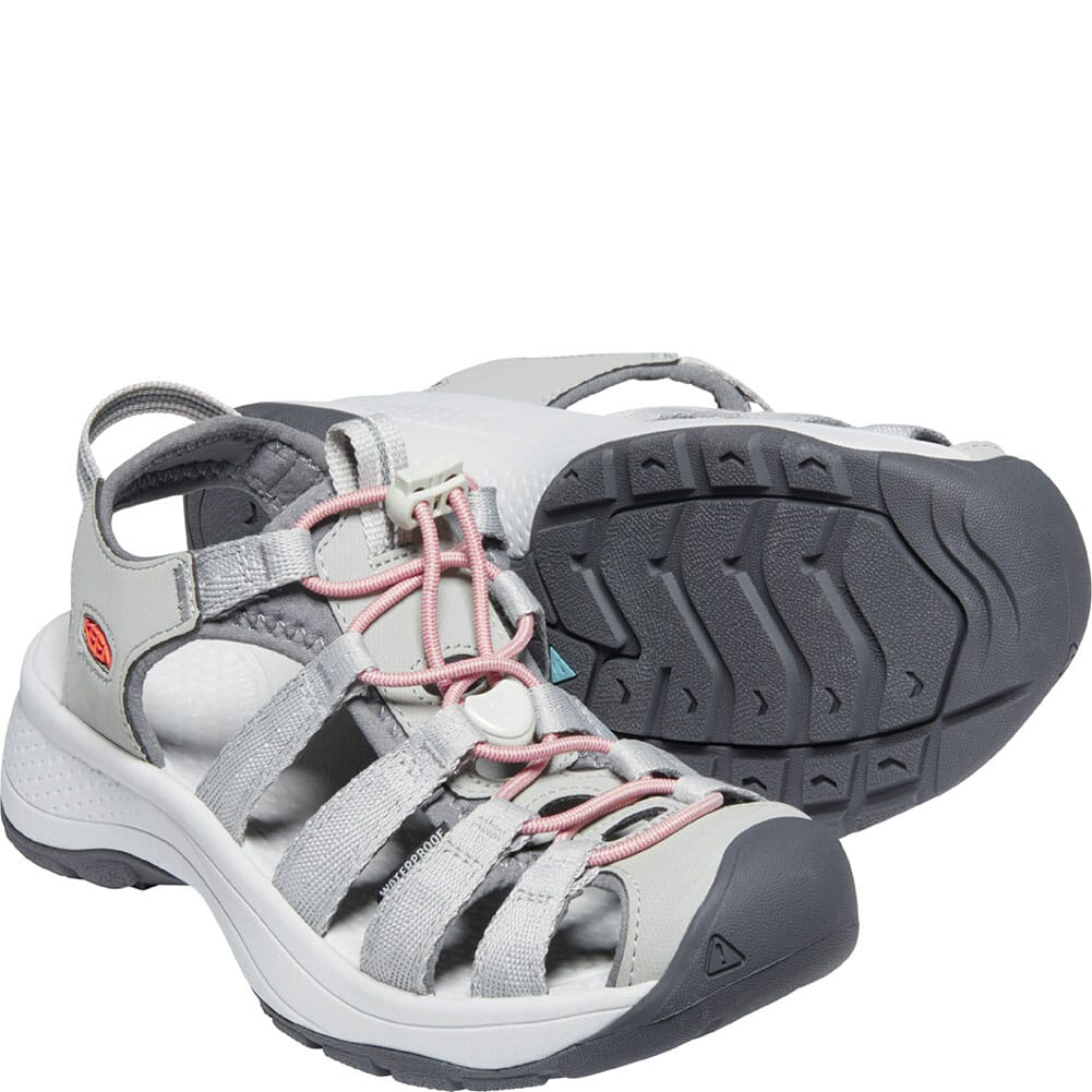 1023589 KEEN Women's Astoria West Sandals - Grey/Coral