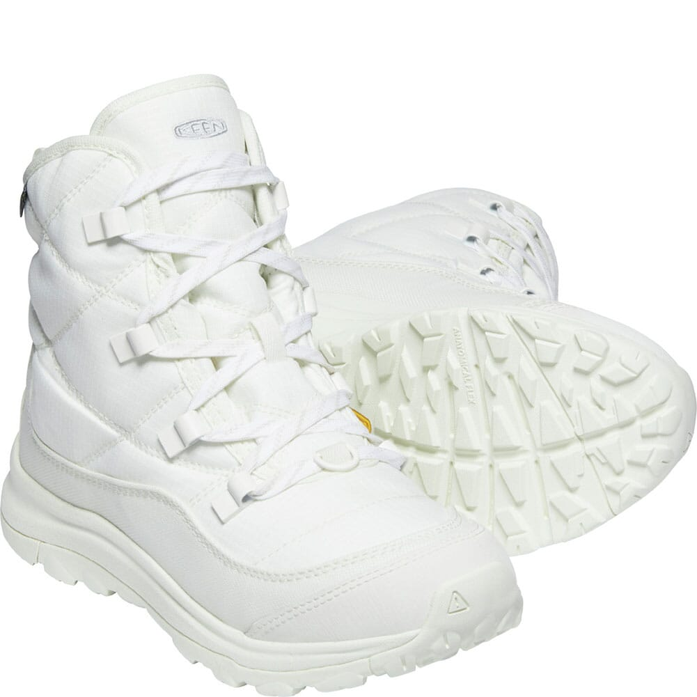 1023853 KEEN Women's Terradora II Winter WP Pac Boots - Star White/Silver Birch