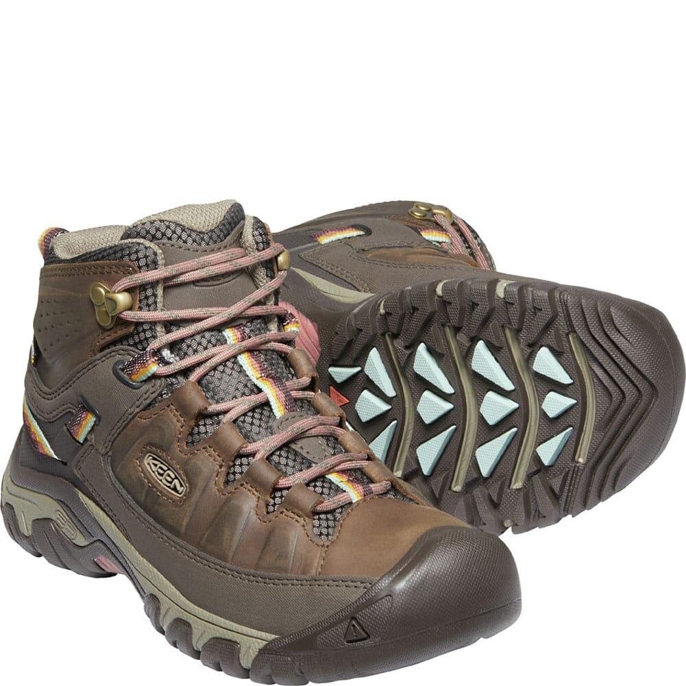 1024054 KEEN Women's Targhee III WP Mid Hiking Boots - Bungee Cord/Redwood