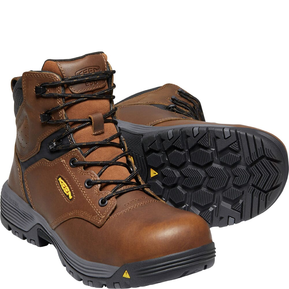 1024190 KEEN Utility Men's Chicago ESD Safety Boots - Tobacco/Black