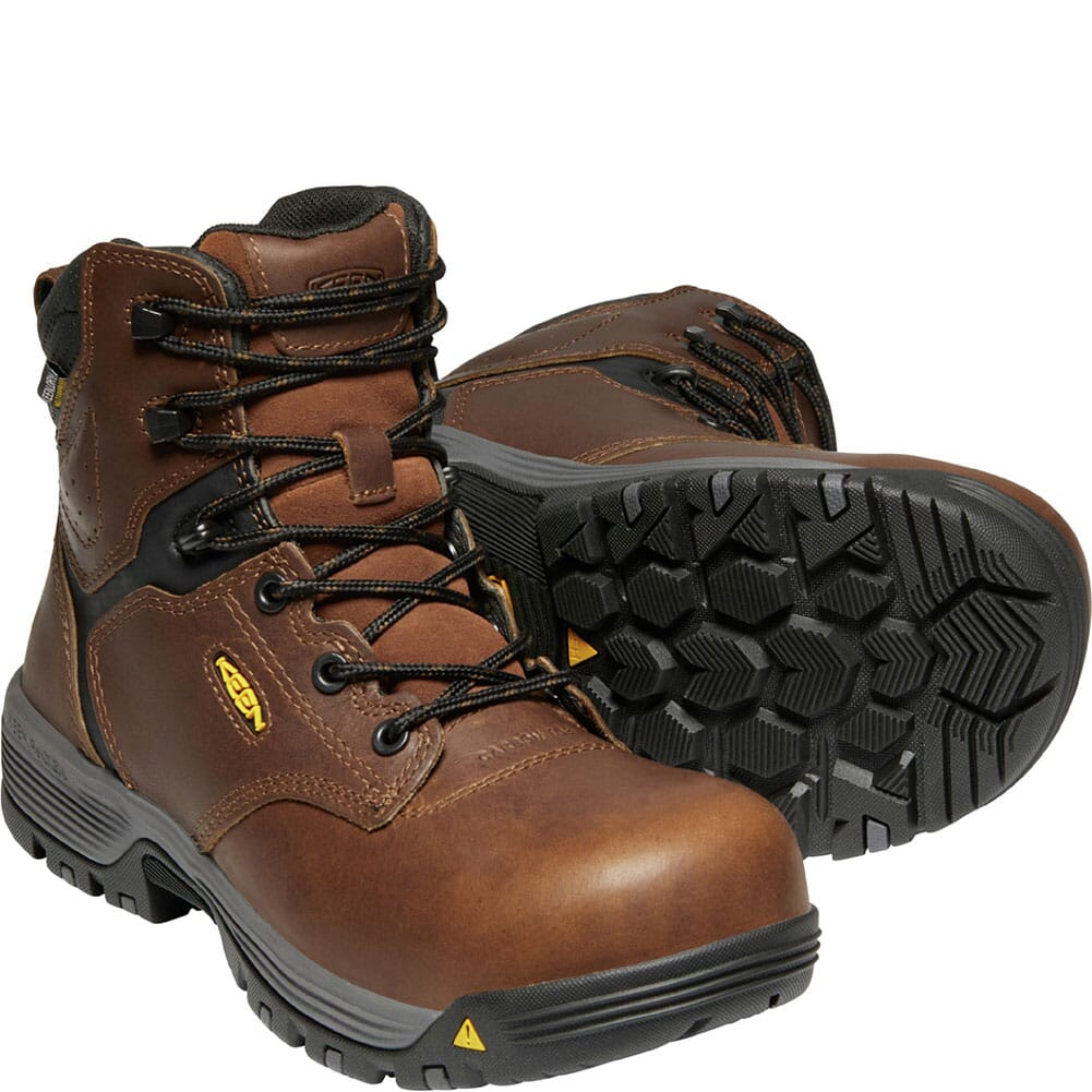 1024195 KEEN Utility Women's Chicago WP Safety Boots - Tobacco/Black