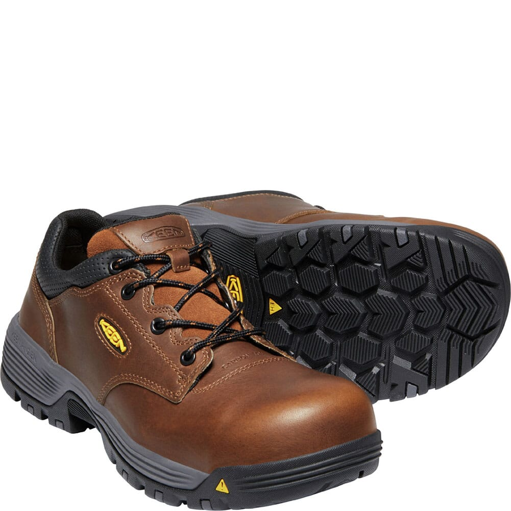 1024197 KEEN Utility Men's Chicago WP Safety Shoes - Tobacco/Black