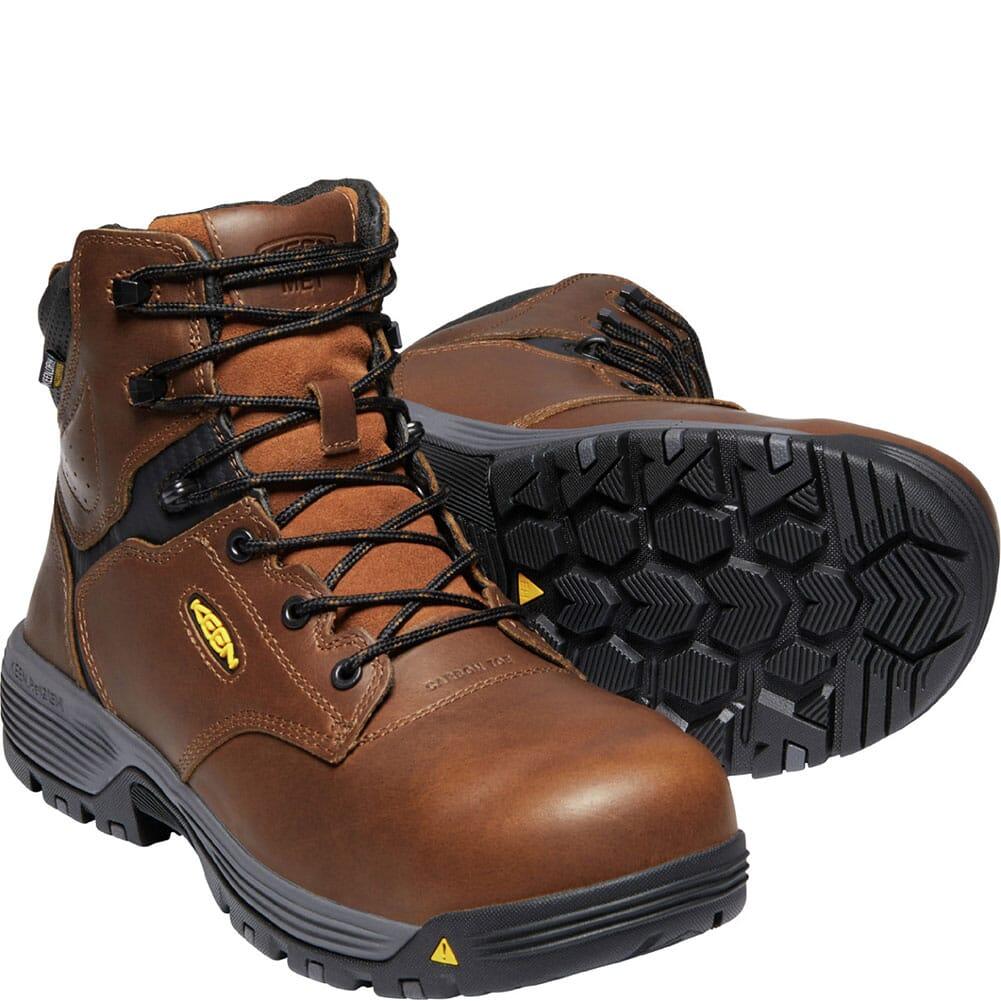 1024209 KEEN Utility Men's Chicago Internal Met Safety Boots - Tobacco/Black