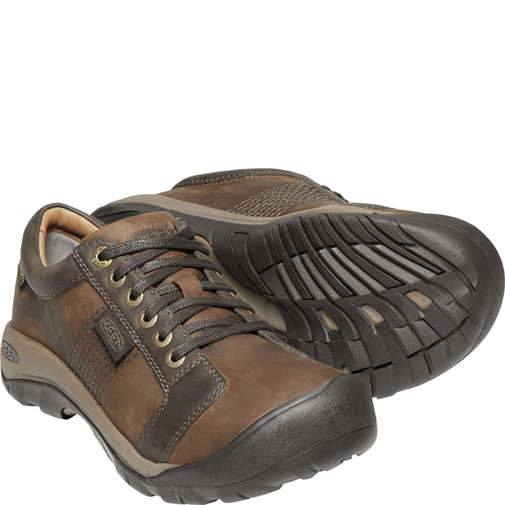 1024273 KEEN Men's Austin WP Casual Shoes - Chocolate Brown