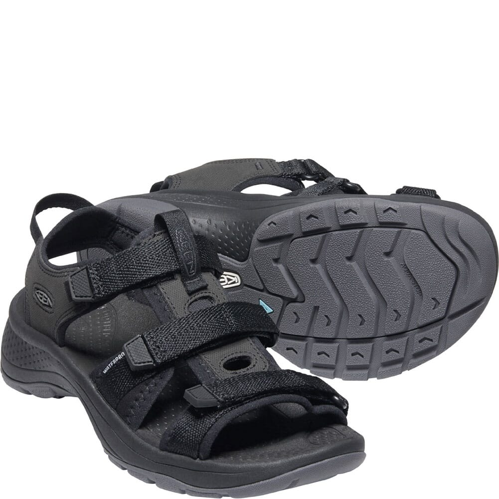 1024868 KEEN Women's Astoria West Open Toe Sandals - Black