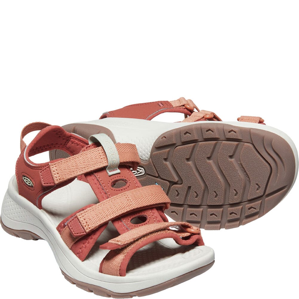 1024869 KEEN Women's Astoria West Open Toe Sandals - Redwood/Pheasant