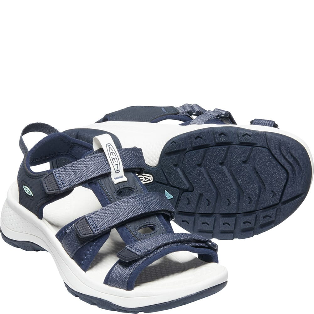 1024871 KEEN Women's Astoria West Open Toe Sandals - Blue Nights/Black Iris