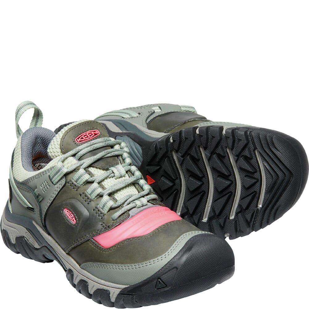 1024922 KEEN Women's Ridge Flex WP Hiking Boots - Castor Grey/Dubarry