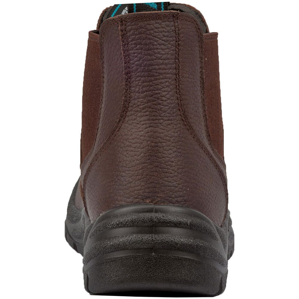 McRae Men's Lathe Pull Up Safety Boots - Brown