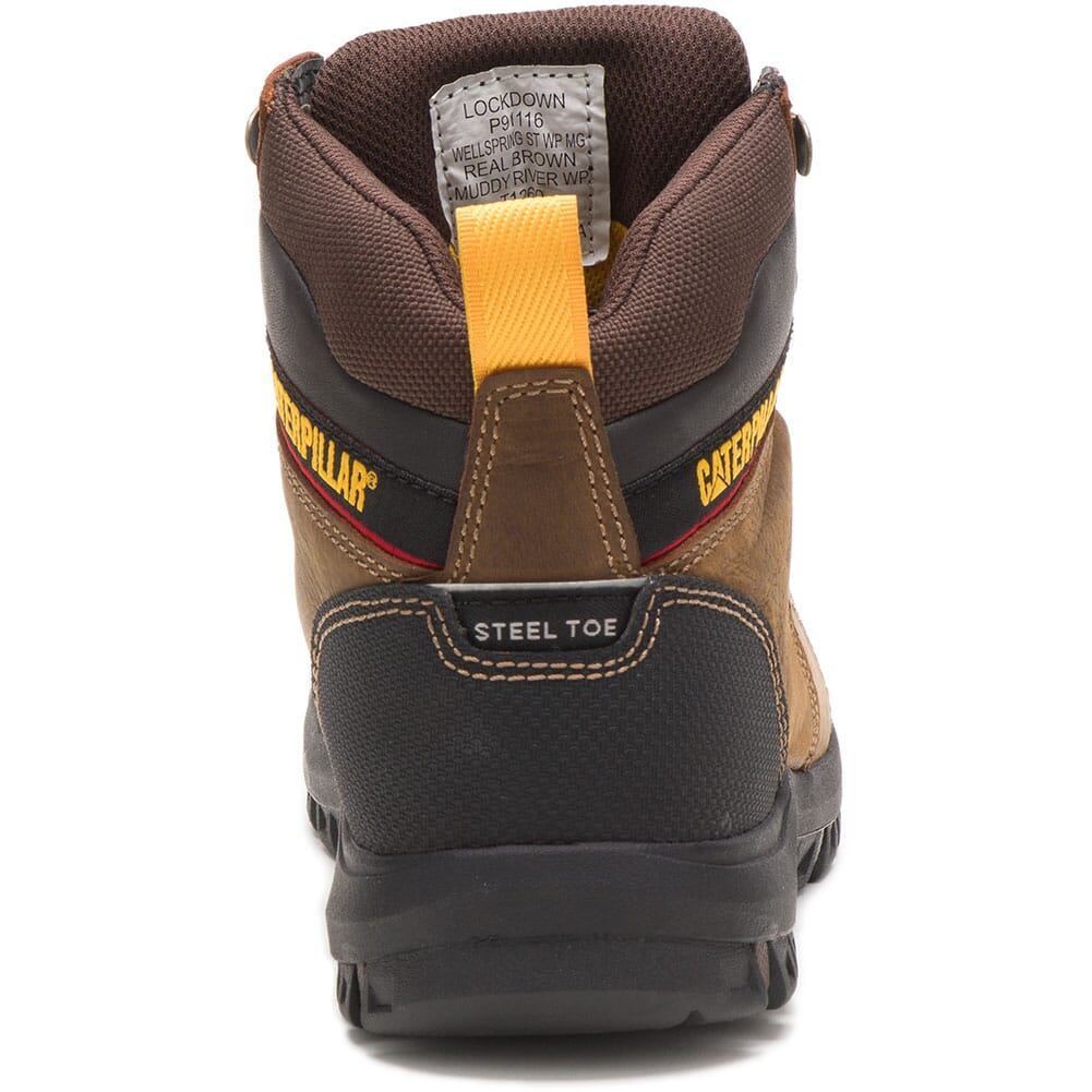 91116 Caterpillar Women's Wellspring WP Met Guard Safety Boots - Real Brown