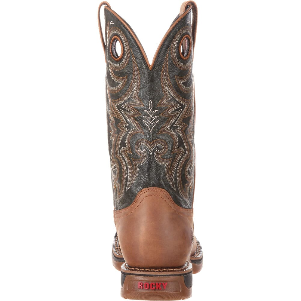 Rocky Men's Long Range WP Western Boots - Brown/Dark Brown