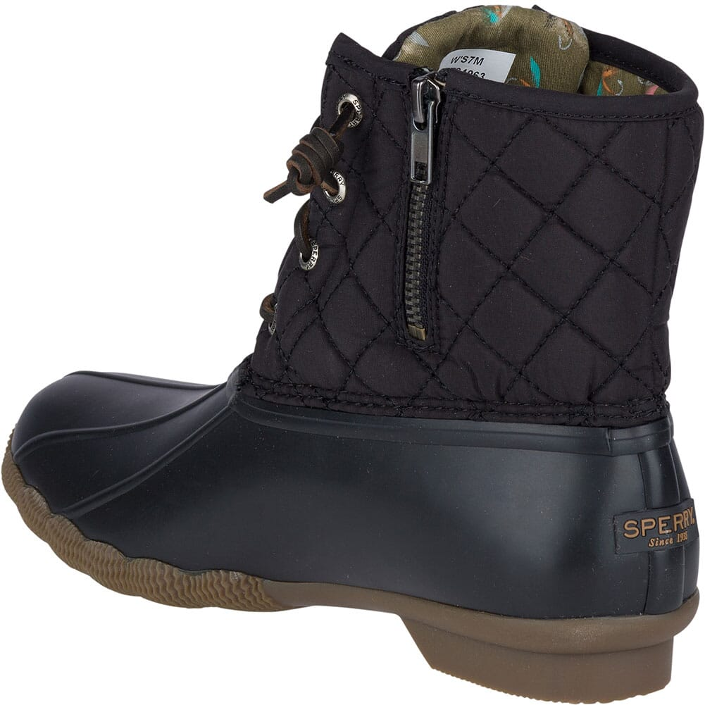 Sperry Women's Saltwater Quilted Duck Boots - Black