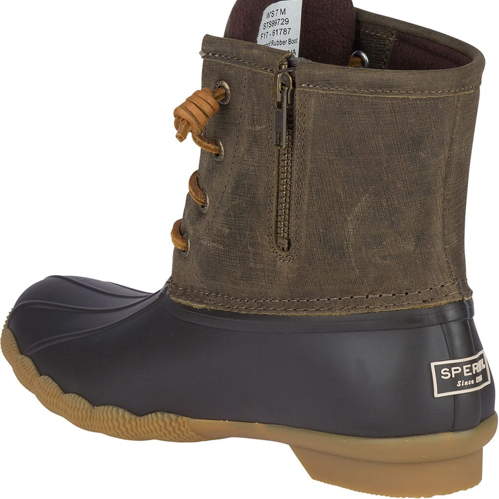 Sperry Women's Saltwater Duck Boots - Brown/Olive