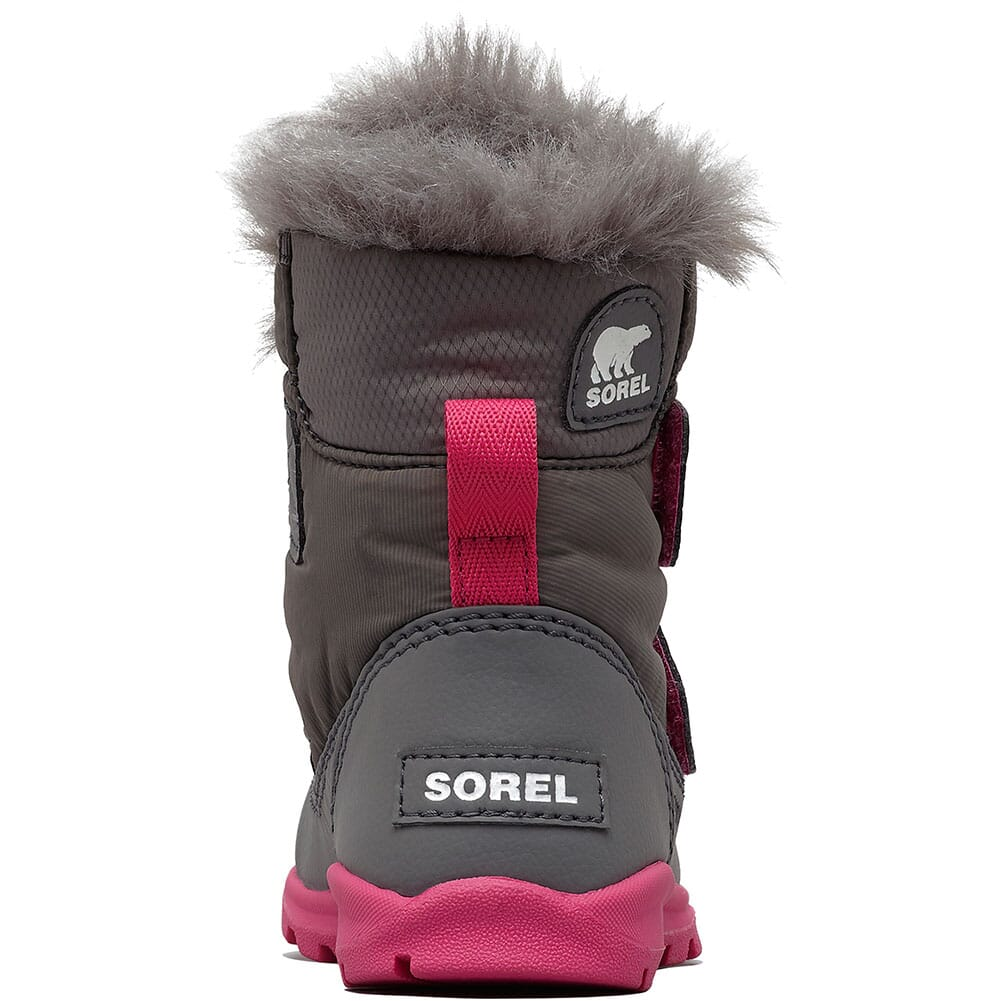 Sorel Kid's Whitney Strap Boots - Quarry/Ultra Pink