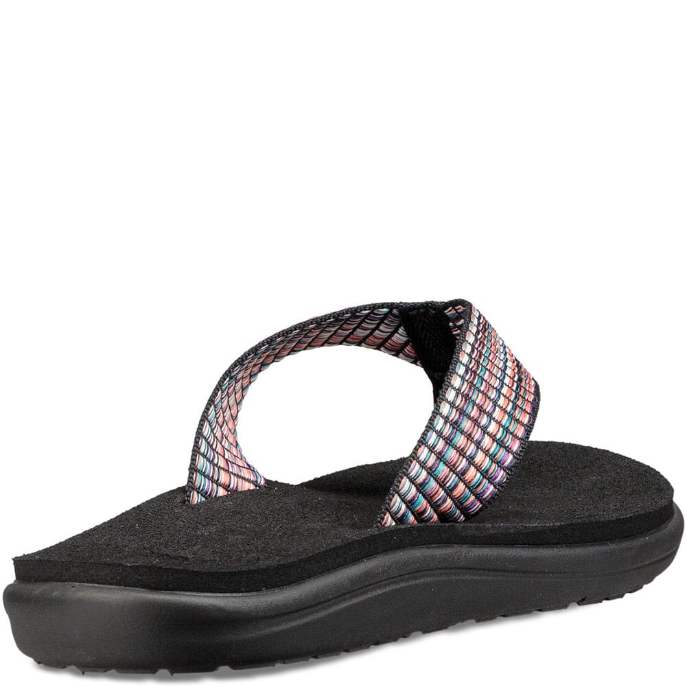 Teva Women's Voya Flip Flop - Bar Street Multi Black