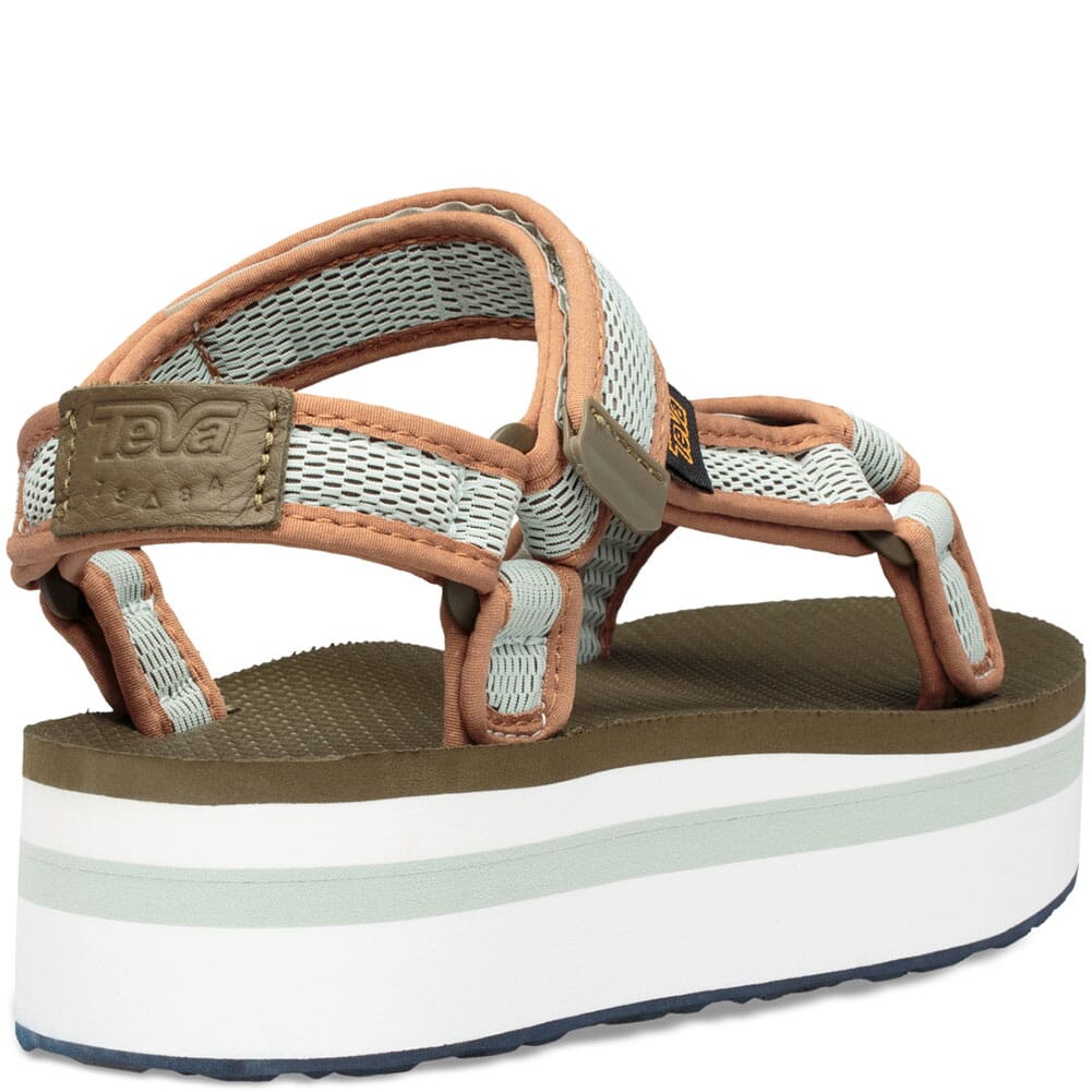1102451-DOSFM Teva Women's Flatform Mesh Sandals - Dark Olive/Sea Foam