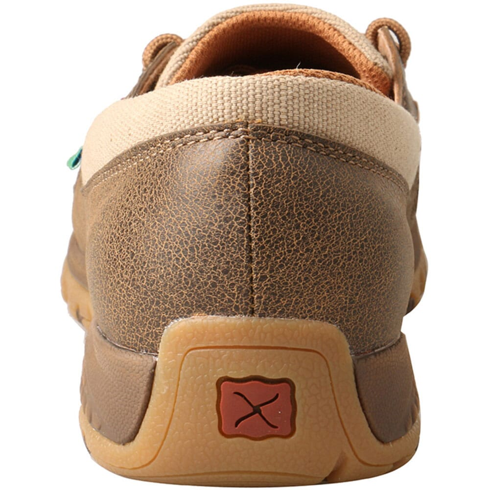 WXC0003 Twisted X Women's Driving Moc Boat Shoes - Bomber/Khaki