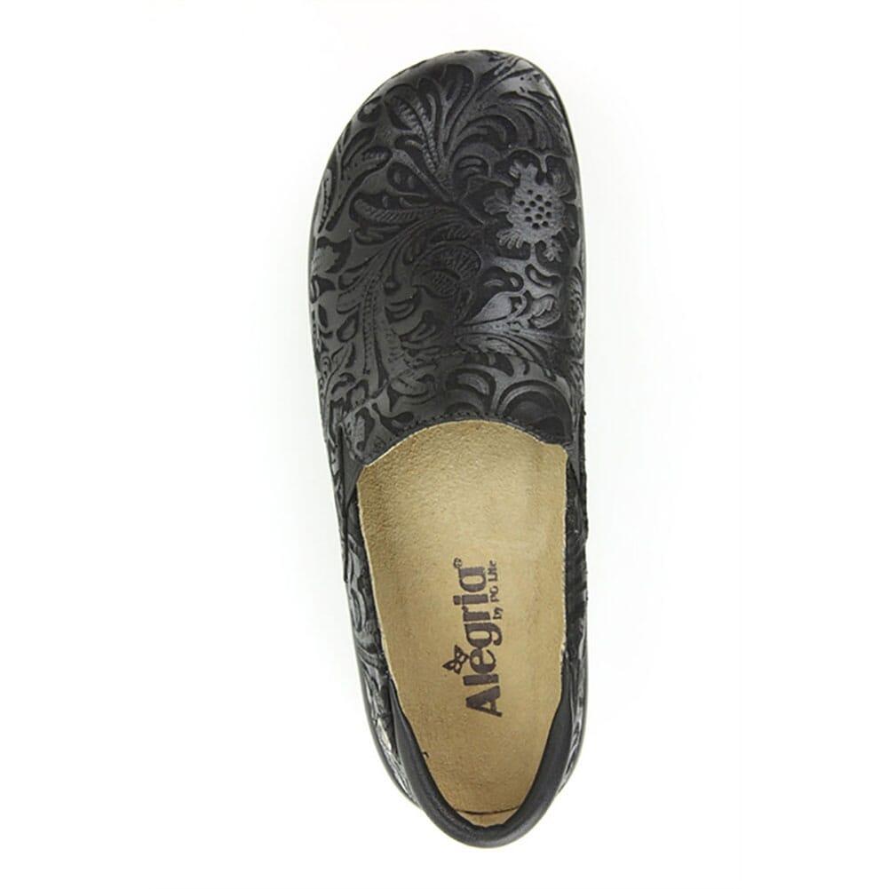 KEL-431 Alegria Women's Keli Paisley Casual Clogs - Black Emboss