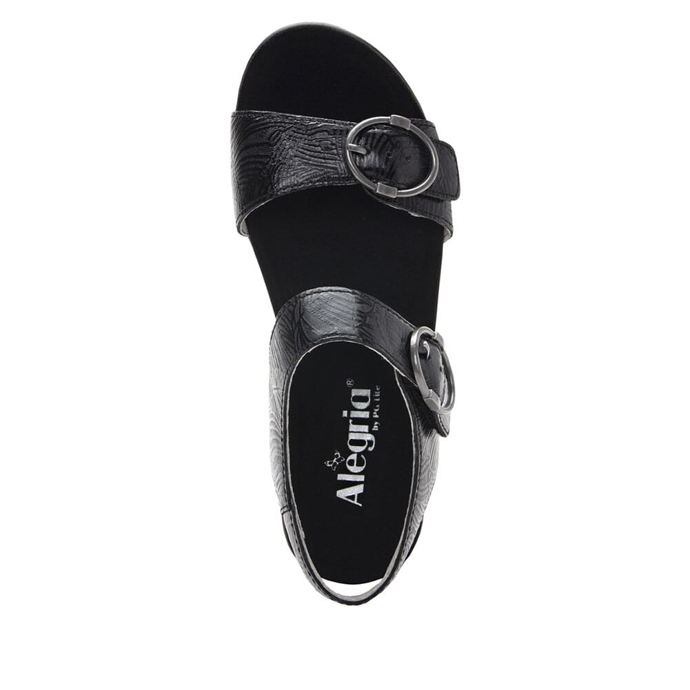 MOR-520 Alegria Women's Morgyn Flatform Wedge Sandals - Black