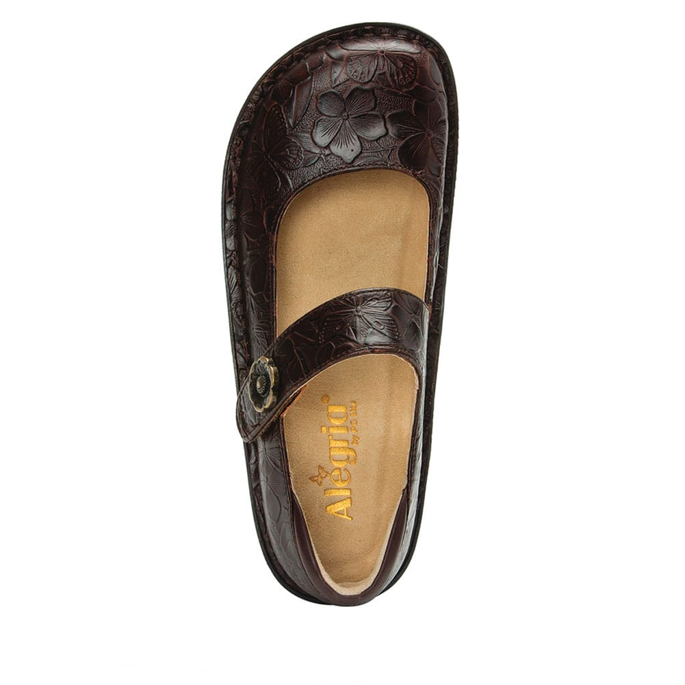 PAL-275 Alegria Women's Paloma Mary Jane Casual Shoes - Flutter Choco