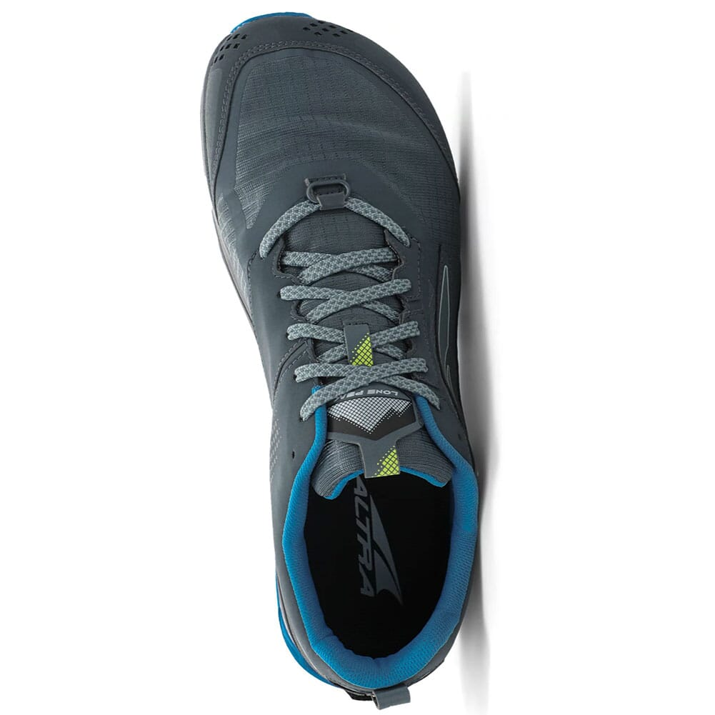 0A547E-431 Altra Men's Lone Peak 5 Wide Running Shoes - Blue/Lime