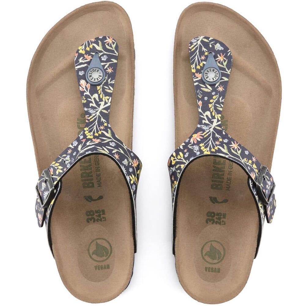 1018448 Birkenstock Women's Gizeh Vegan Sandals - Watercolor Flower Navy