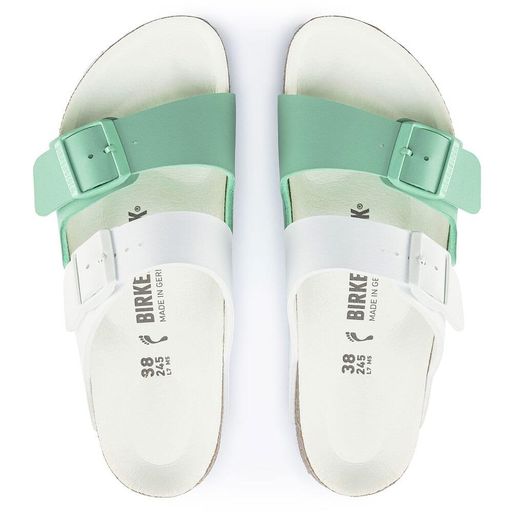 1019674 Birkenstock Women's Arizona Split Sandals - White/Jade