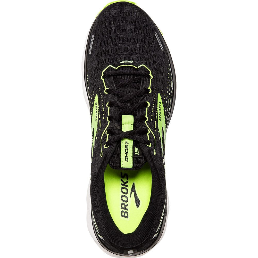 110348-039 Brooks Men's Ghost 13 Road Running Shoes - Black/Nightlife/White