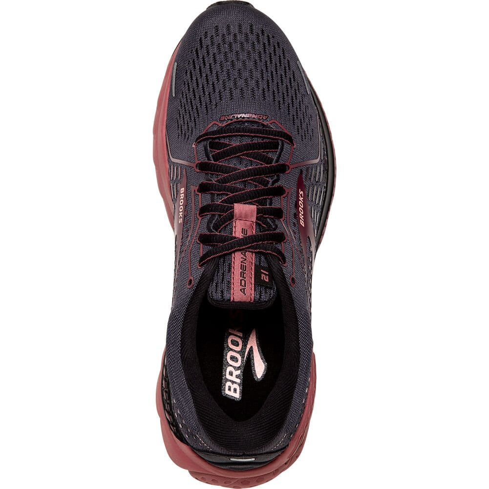 120329-050 Brooks Women's Adrenaline GTS 21 Running Shoes - Black/Blackened Pear