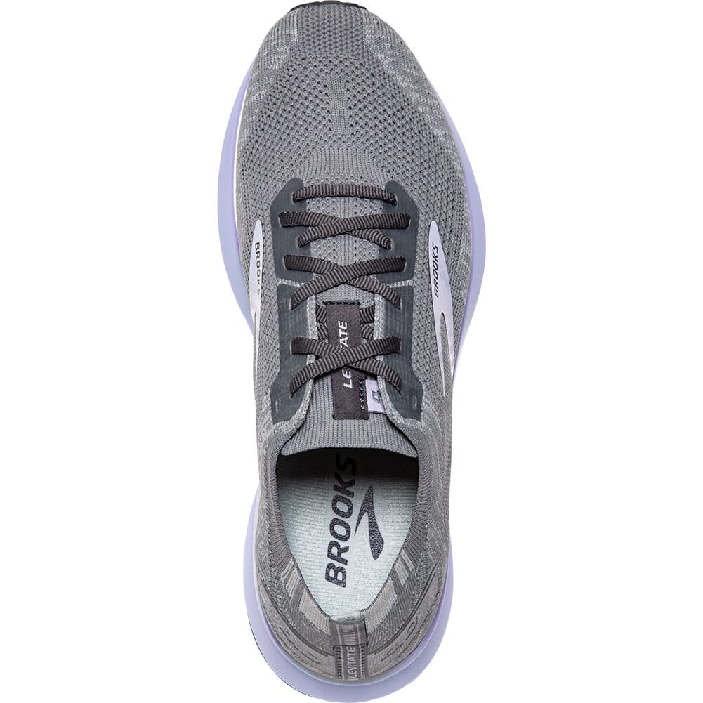 120335-084 Brooks Women's Levitate 4 Road Running Shoes - Grey/Blackened Pearl/P