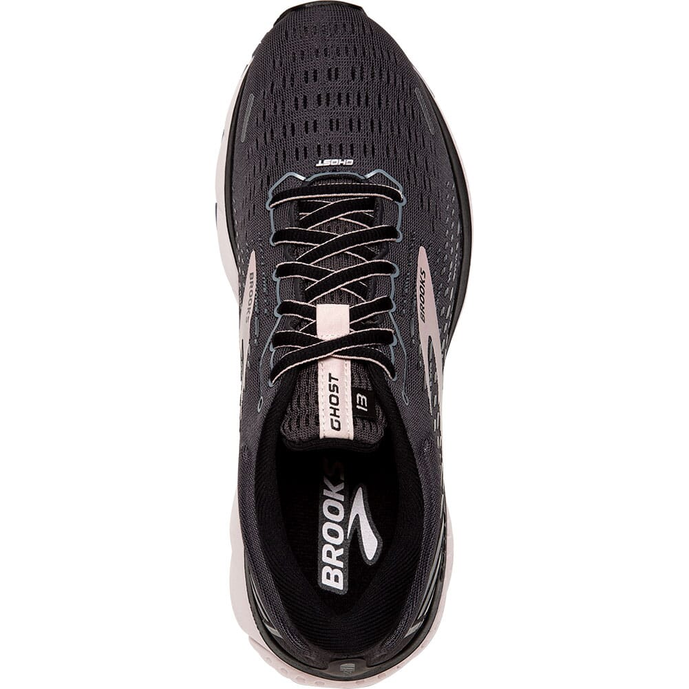 120338-062 Brooks Women's Ghost 13 Road Running Shoes - Black/Pearl/Hushed Viole