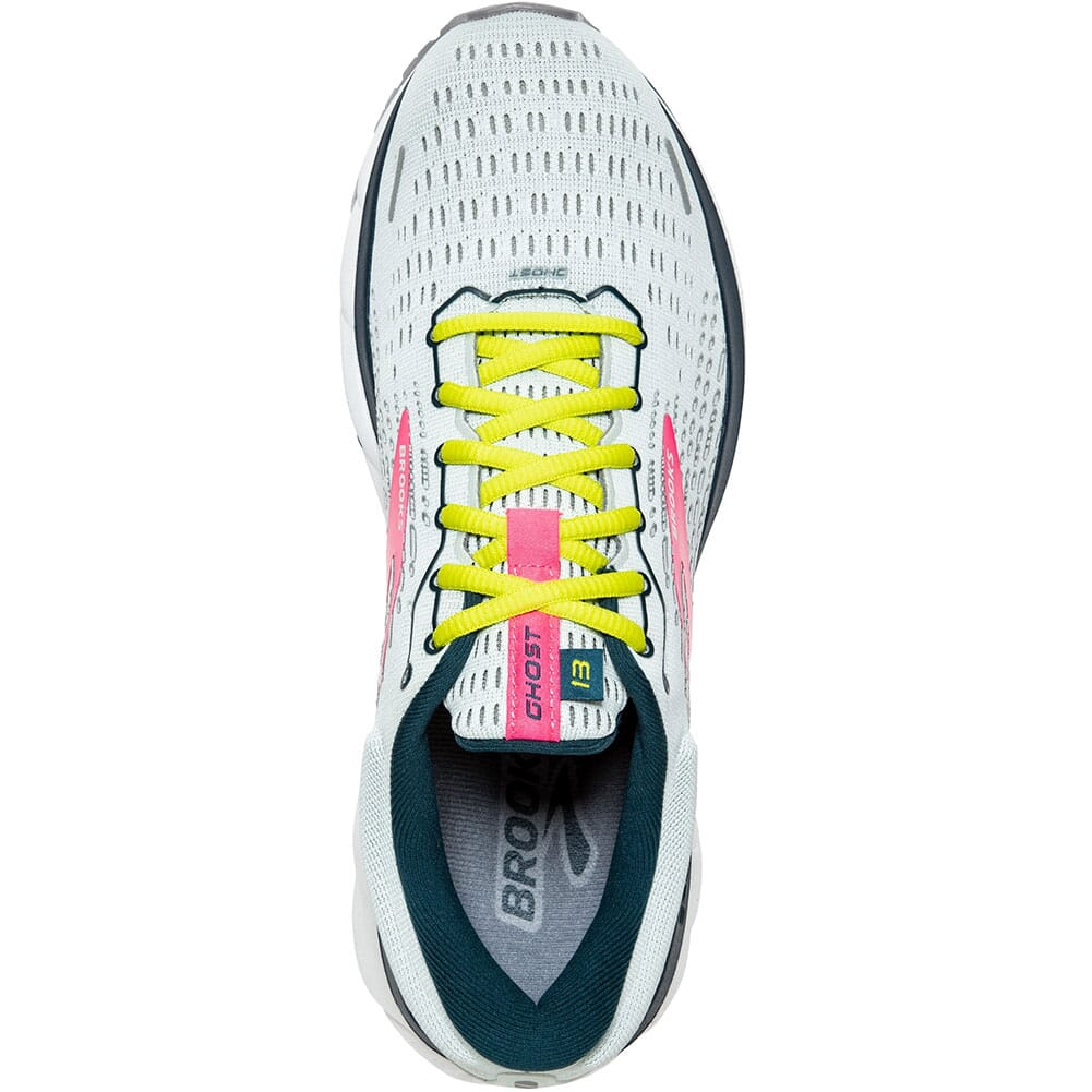 120338-154 Brooks Women's Ghost 13 Road Running Shoes - Ice Flow/Pink/Pond