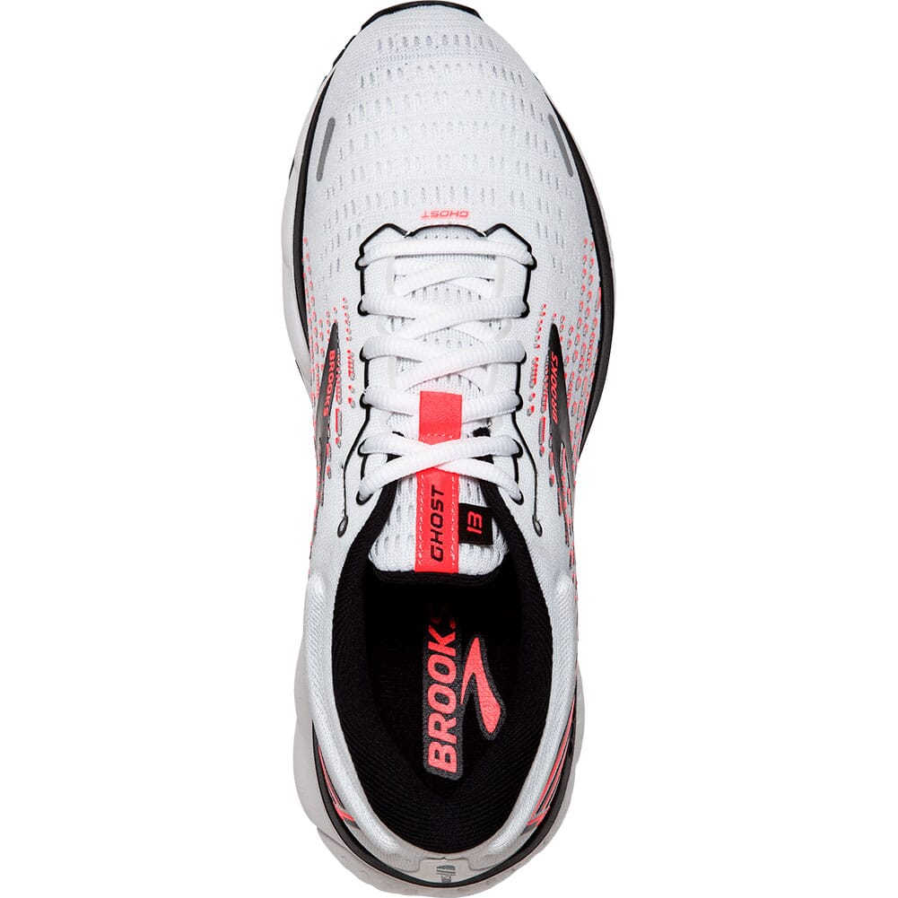 120338-192 Brooks Women's Ghost 13 Road Running Shoes - White/Pink/Black