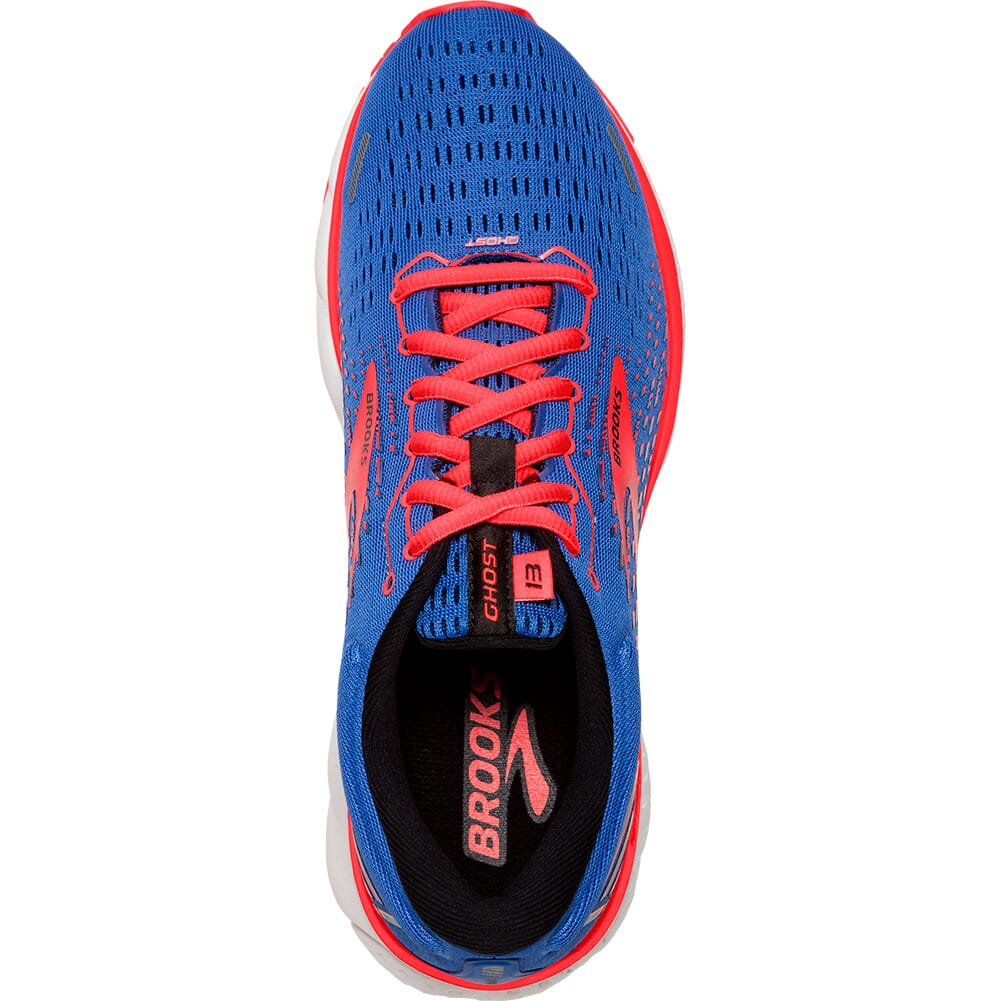 120338-424 Brooks Women's Ghost 13 Road Running Shoes - Blue/Coral/White