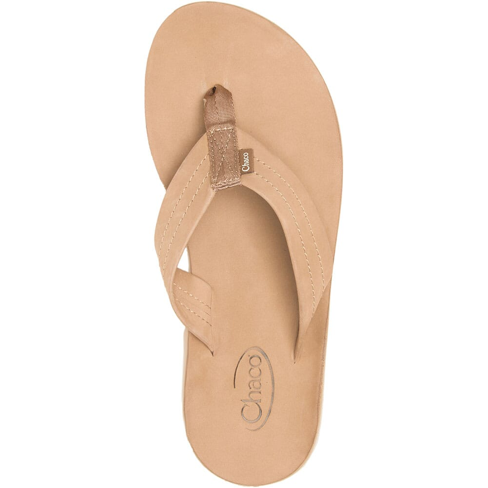 JCH108492 Chaco Women's Classic Leather Flip Flop - Tan