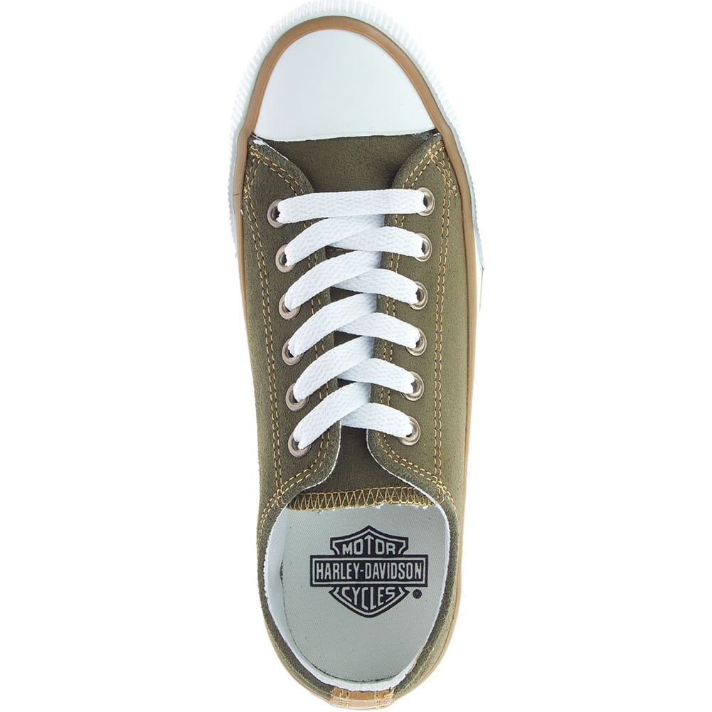 84591 Harley Davidson Women's Burleigh Casual Sneakers - Olive