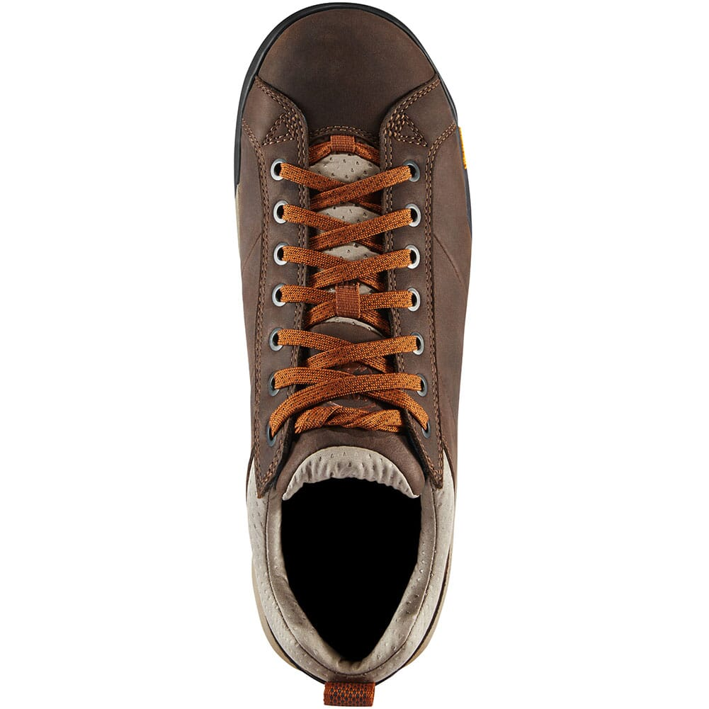 63252 Danner Men's Camp Sherman Hiking Shoes - Dark Brown/Orange
