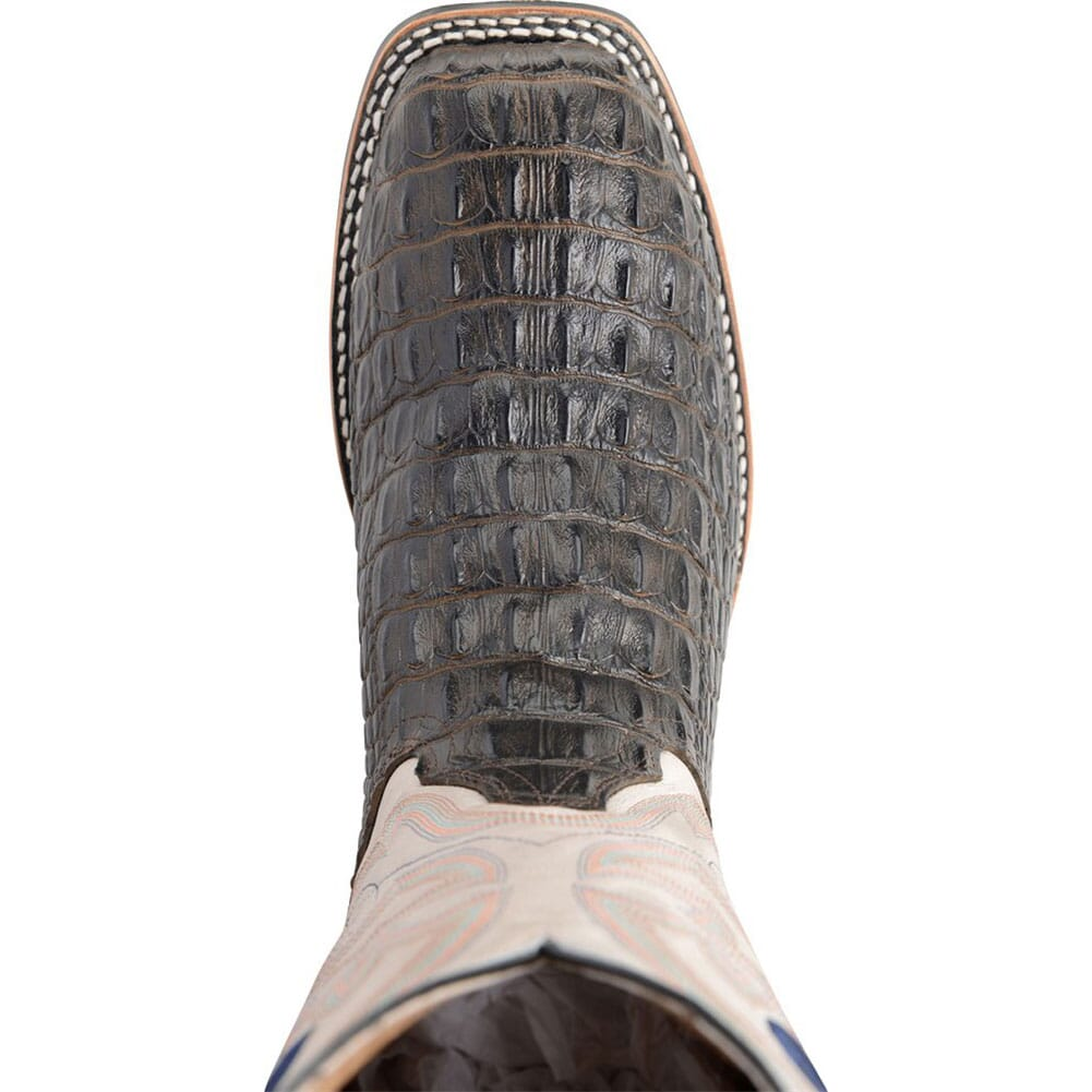 Double H Men's Caiman Print Safety Ropers - Chocolate