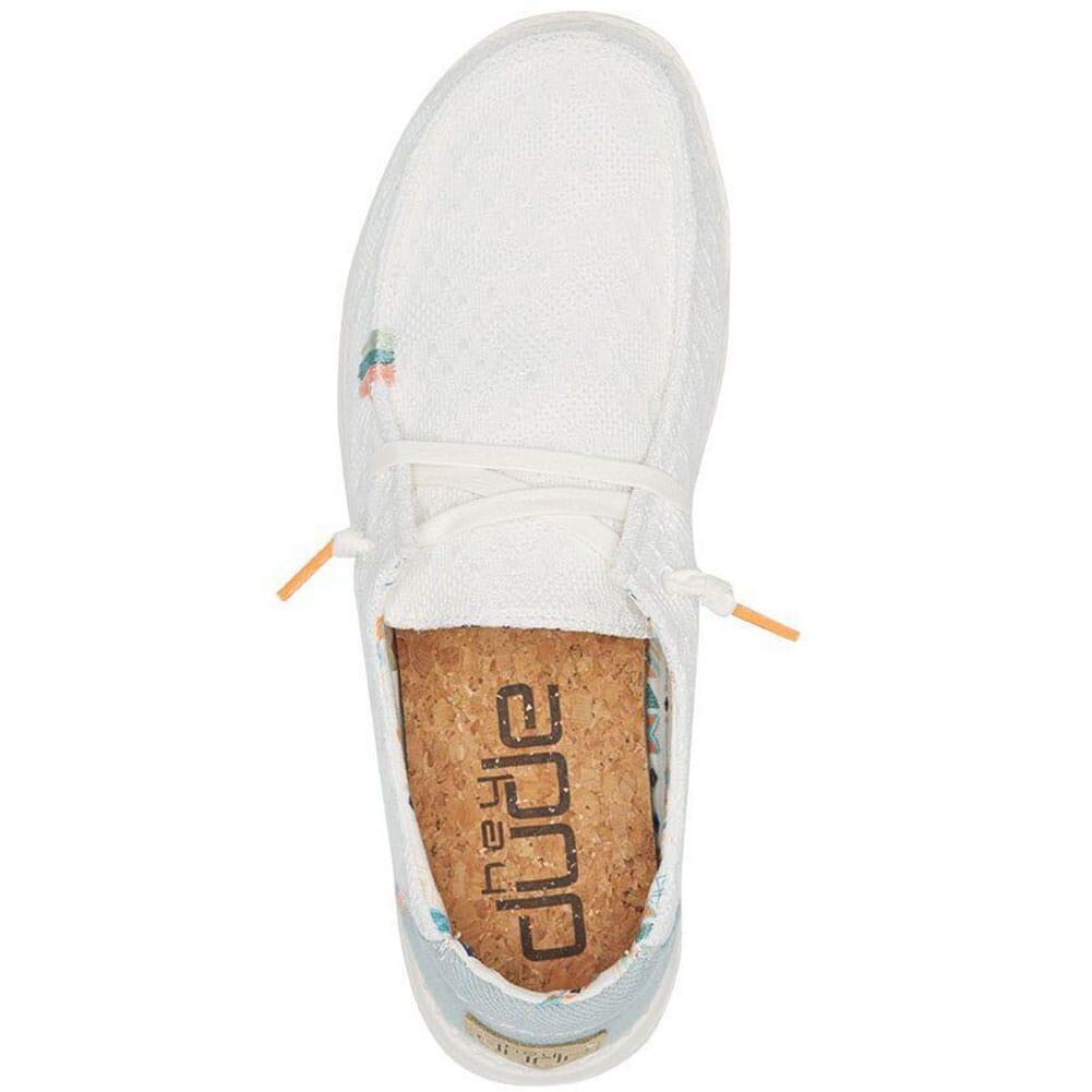 121410164 Hey Dudes Women's Wendy Boho Casual Shoes - White Crochet