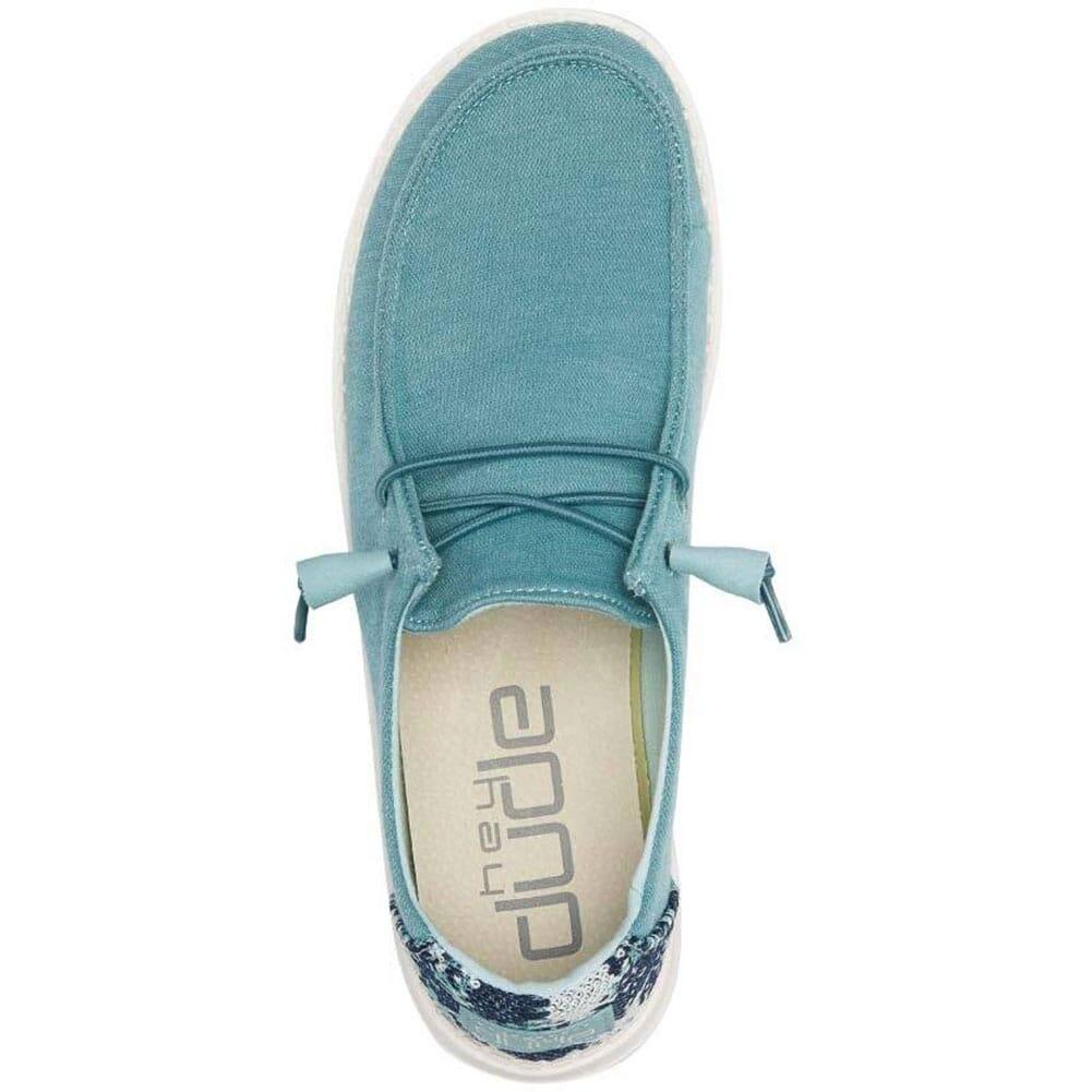 121412121 Hey Dudes Women's Wendy Stretch Fleece Casual Shoes - Sea Blue