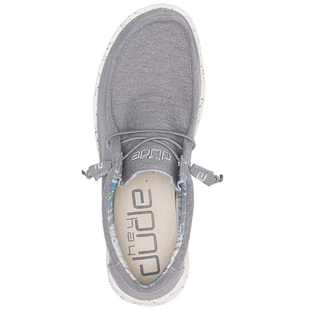 Hey Dude Men's Wally Stretch Casual Shoes - Iron