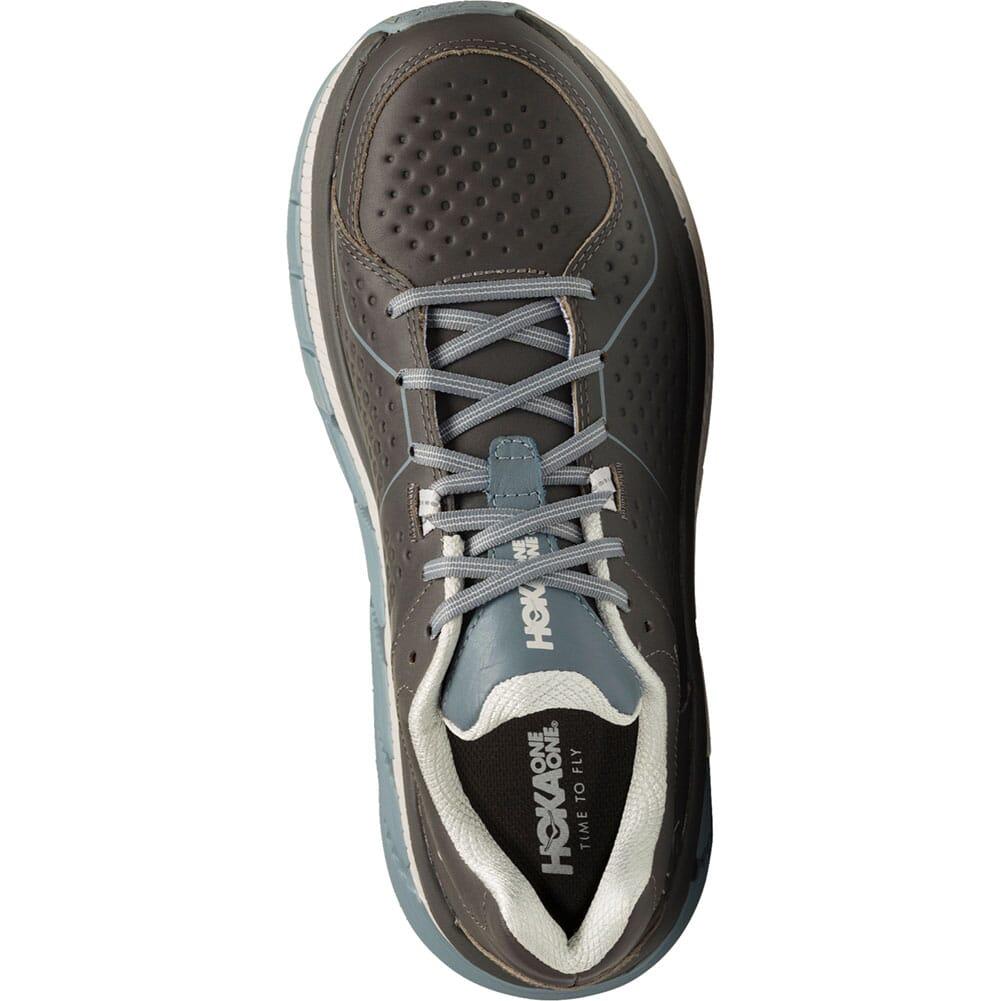Hoka One One Men's Gaviota Leather Running Shoes - Charcoal/Tradewi