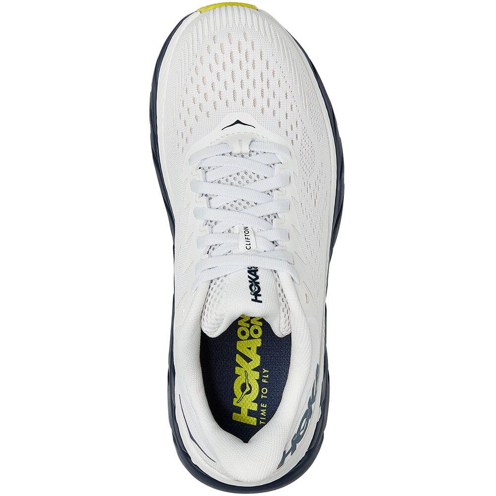1110509-BDBBI Hoka One One Women's Clifton 7 Running Shoes - Blanc de Blanc/Blac