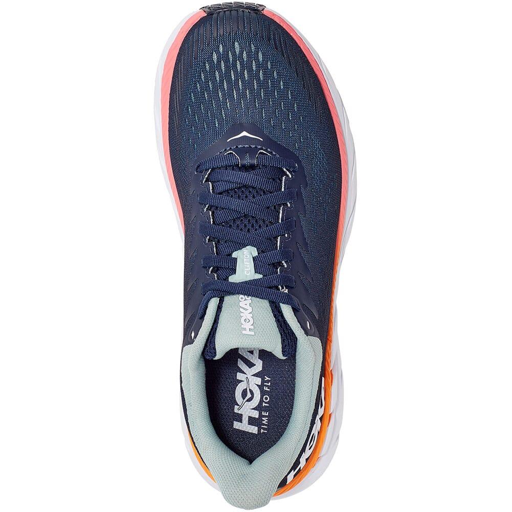 1110509-BIBH Hoka One One Women's Clifton 7 Running Shoes - Black Iris/Blue Haze