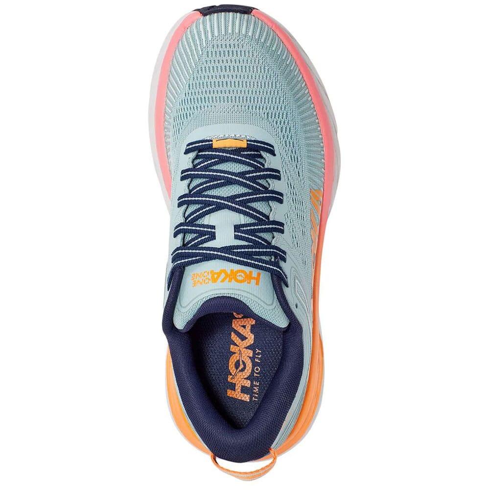 1110531-BHBI Hoka One One Women's Bondi 7 Wide Athletic Shoes - Blue Haze