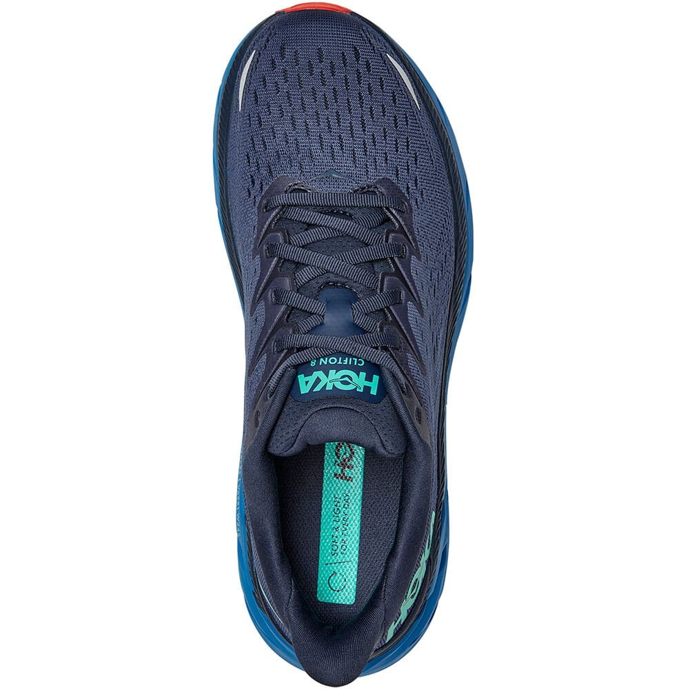 1119393-OSVB Hoka One One Men's Clifton 8 Athletic Shoes - Outer Space