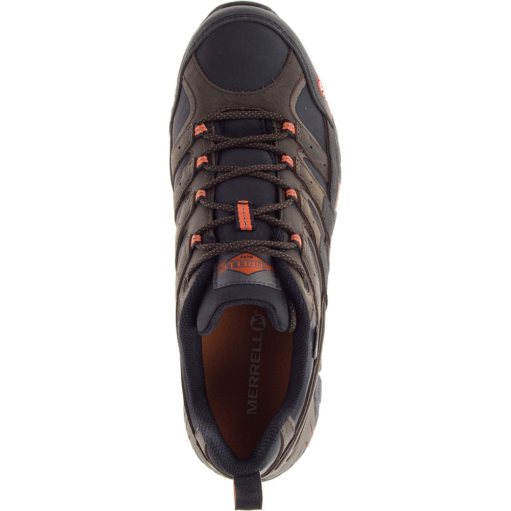 46651W Merrell Men's Moab 2 ESD Wide Safety Shoes - Espresso