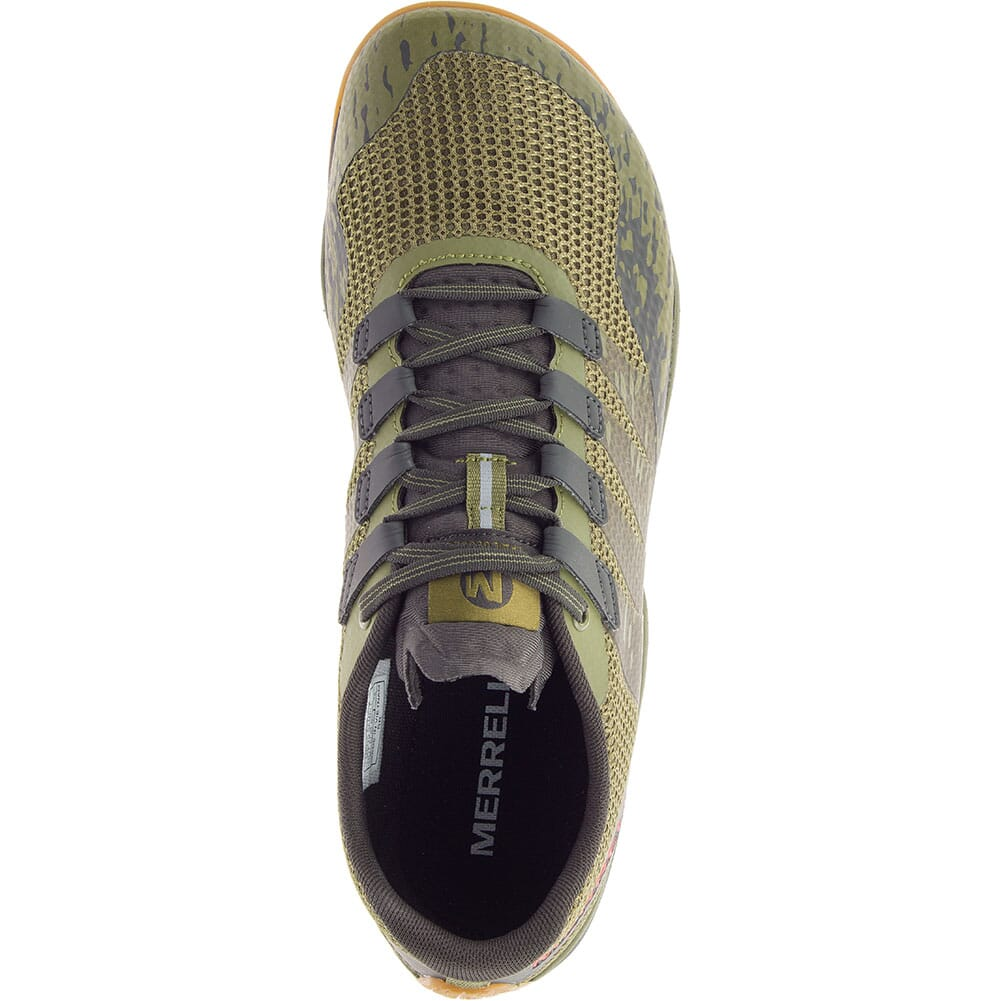 Merrell Men's Trail Glove 5 Athletic Shoes - Olive Drab/Beluga
